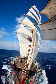 Four-masted barque Sedov in the Funchal 500 Race - Falmouth - Ilhavo - Funchal in 2008
