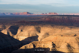 From Gooseneck State Park, Utah looking at Monument Valley.