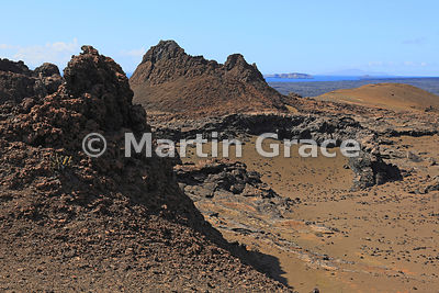 Volcanic landscape of Bartolome Island, Galapagos Islands