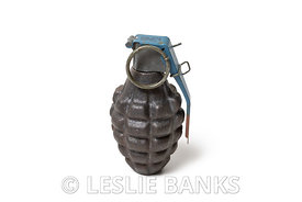 Vintage Hand Grenade Isolated