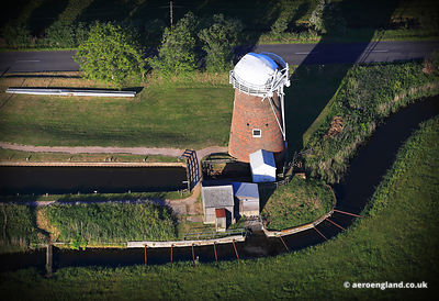 aerial photograph of Horsey Windpump at Horsey Mere, Norfolk.