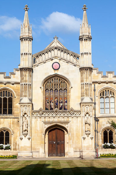 Corpus Christi College (founded in 1352 by the Guilds of Corpus Christi and the Blessed Virgin Mary)