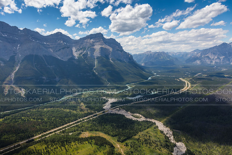 Trans Canada Highway through Banff National Park