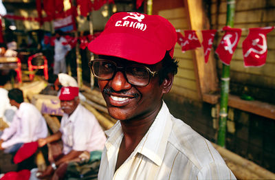 India - Kerala - A man in a baseball cap