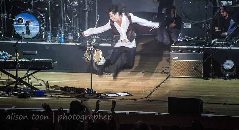 Steve Hogarth jumping on stage, Marillion ,Wolverhampton UK, 2013