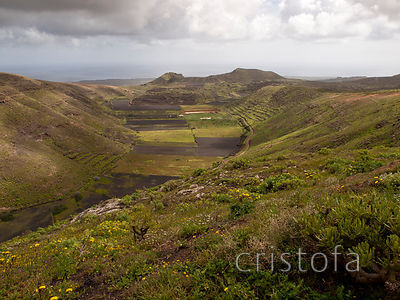a valley near Ye in the north of Lanzarote