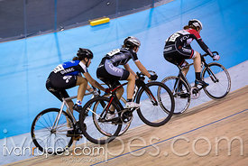 Cat 2/U17 Women Points Race. 2016/2017 Track O-Cup #3/Eastern Track Challenge, Mattamy National Cycling Centre, Milton, On, February 12, 2017