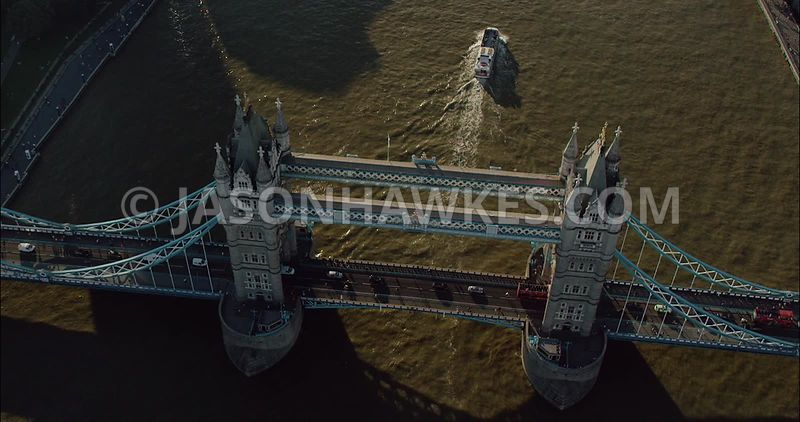 London Aerial Footage of Tower Bridge