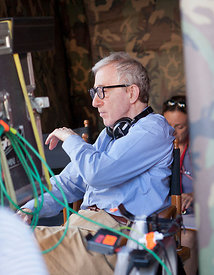 Woody Allen on set of Bop Decameron