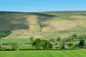 Farmland in the Forest of Bowland near Slaidburn, Lancashire, UK, in early summer.