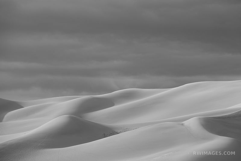 GREAT SAND DUNES NATIONAL PARK COLORADO BLACK AND WHITE