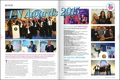 EN magazine - May 2015 - Exhibition News Awards - page 14-15