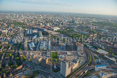 Aerial view of King's Cross Central, London