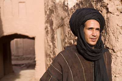 A man in traditional Moroccan dress