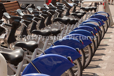 Line of Hire Bikes in Marseilles