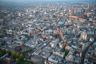 Aerial view of Clerkenwell, London