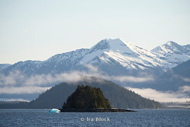 Mountain scene in Frederick Sound in Southeast Alaska.