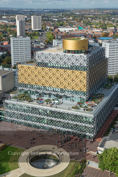 The New Library of Birmingham, Centenary Square, Birmingham, West Midlands, England, UK