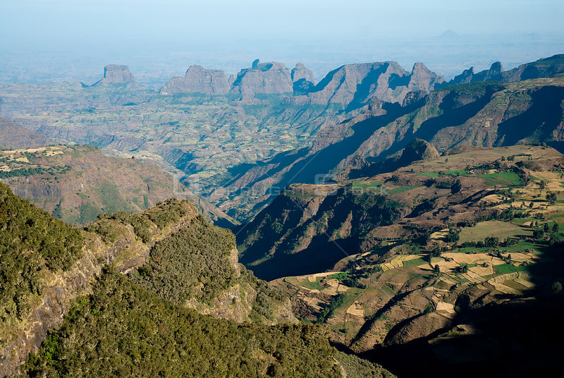 Aerial view in the Simien Mountains, Ethiopia, November 2007