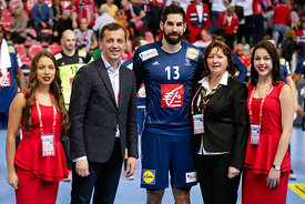 Nikola Karabatic  during the EHF EURO Croatia 2018 - Preliminary round -  Group B - France vs Belarus in Zatika Sports Centre, Porec, Croatia, 16.1.2018, Mandatory Credit © HRS / Anze Malovrh