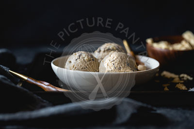 coffee halva chocolate chip ice cream