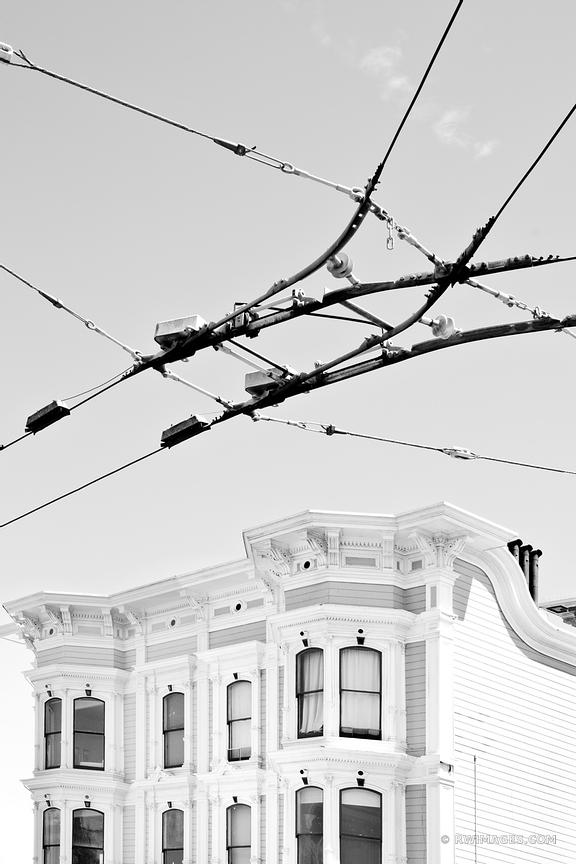 SAN FRANCISCO HISTORIC ARCHITECTURE BLACK AND WHITE