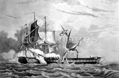 USS Constitution captures HMS Guerriere during War of 1812