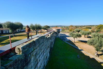 The roman and medieval walls of the historic village of Idanha a Velha. Portugal (MR)