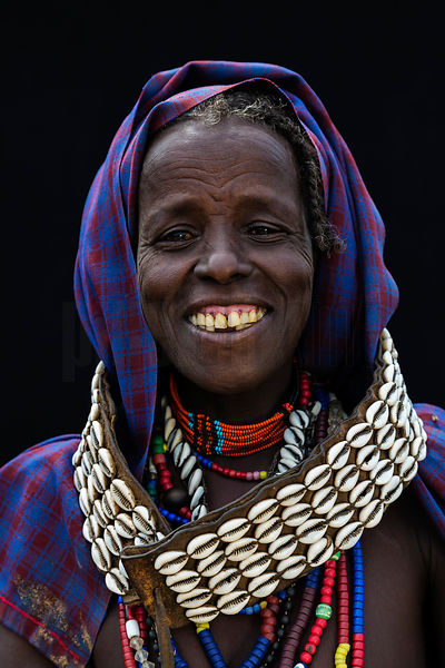 Portrait of a Smiling Arbore Woman