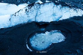 Details from Solheimajokull Glacier on Iceland's south coast.