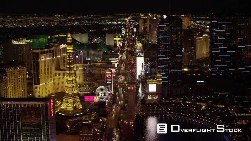 W/S Aerial shot of The Las Vegas Strip Las Vegas Las Vegas Nevada North America