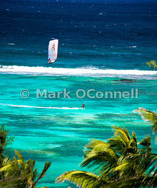 Kite surfer in St Barts