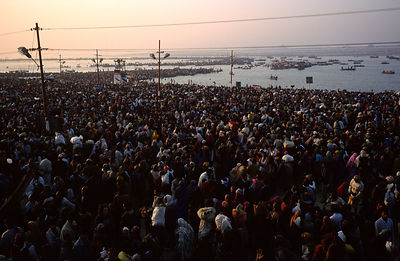 India - Allahbad - Millions of pilgrims at the Ardh Kumbh Mela 1995, Allahbad, India