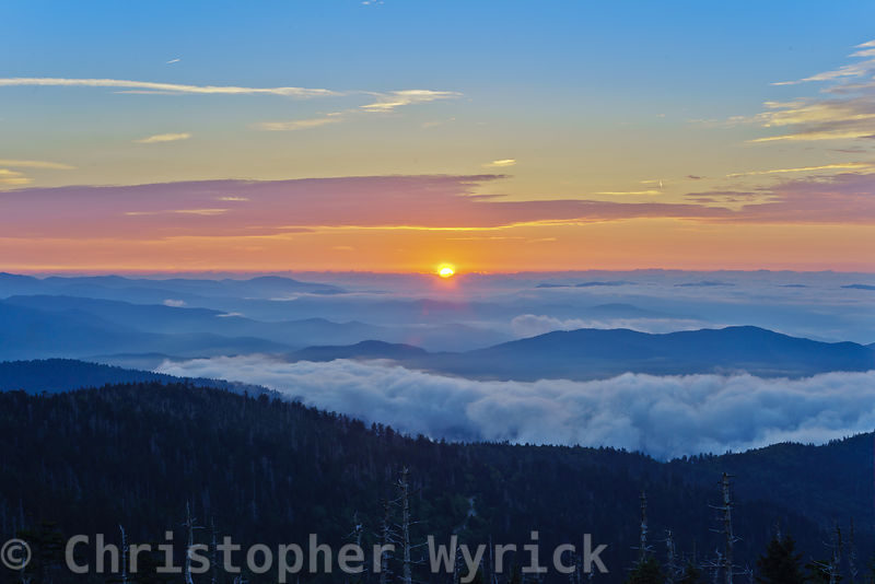 Incredible sunrise as seen from Clingman's Dome.  This beautiful image makes for an outstanding large wall-hanger.