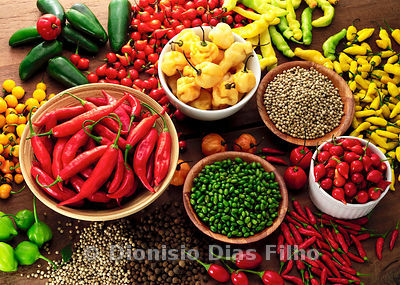 Various Types of Peppers Selected