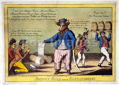 War of 1812 cartoon-Johnny Bull and the Alexandrians
