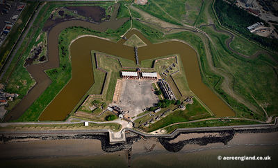aerial photograph of  Tilbury Fort  England UK