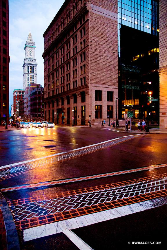DOWNTOWN BOSTON EVENING COLOR VERTICAL