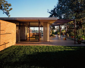 The Case Study house no.16, built in 1953, is the first of three houses designed under the  auspices of the Arts and Architecture magazine Case Study Program, built by Craig Ellwood in Bel Air, California