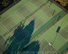 San Francisco California Aerial Photograph tennis
