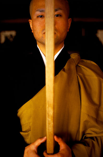 Japan - Hikone - A Zen monk of the Soto School with a koyasaku