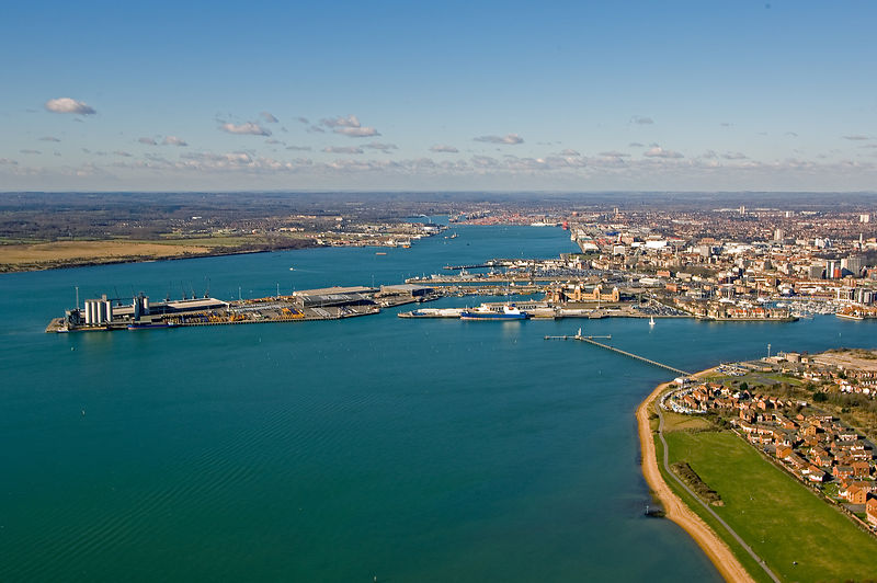Aerial View of Southampton harbour