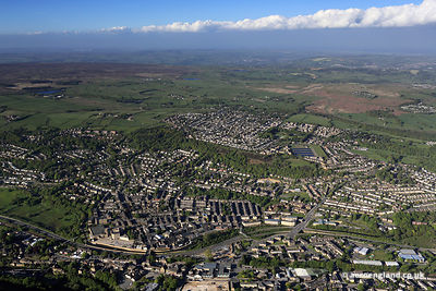 aerial photograph of Bingley Yorkshire England UK.