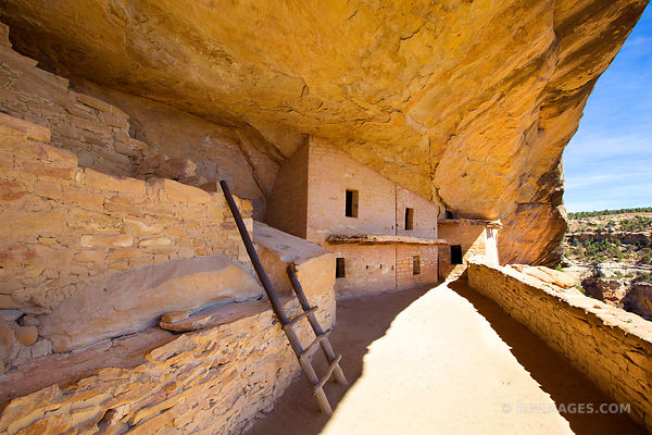 BALCONY HOUSE MESA VERDE NATIONAL PARK COLORADO COLOR HORIZONTAL