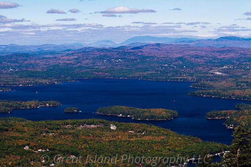 View of Lake Sunapee from Mt Sunapee