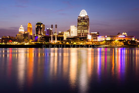Cincinnati Night Skyline Riverfront