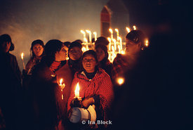Candlelight procession in Peru