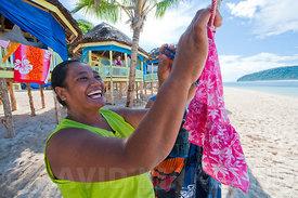 Laughter on Lololima Beach, Upolu