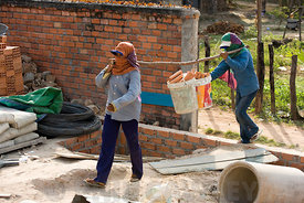Building site in Siem Reap Cambodia