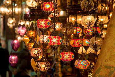 Colorful lanterns for sale
